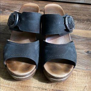 Dansko Ramona Black Slide Sandal preowned